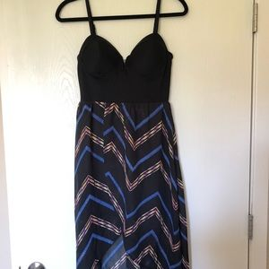 Summer midi high-low dress
